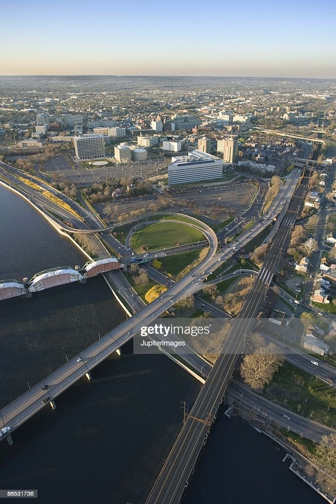 Aerial view of Trenton, New Jersey