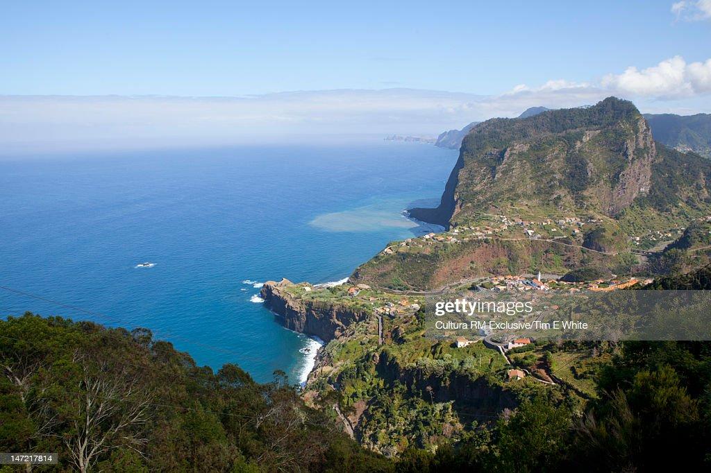 Aerial view of tropical coastline : Stock Photo