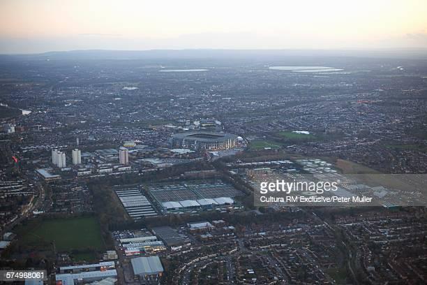 Aerial view of Twickenham Stadium, London, UK