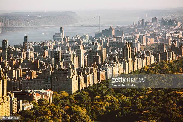 Aerial view of upper West Side, Manhattan