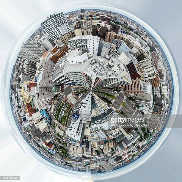 Aerial view of urban landscape of Sapporo Hokkaido