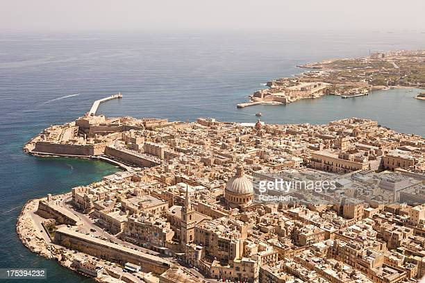 Aerial View of Valletta, Malta. Taken from a light Aircraft
