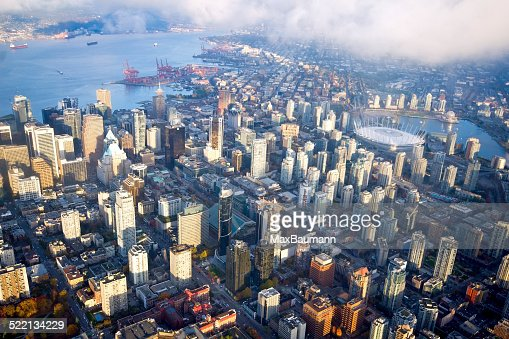 Aerial View of Vancouver Downtown