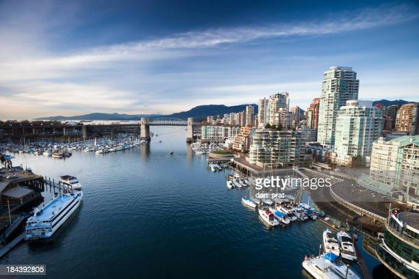 Aerial view of Vancouver's False Creek waterfront