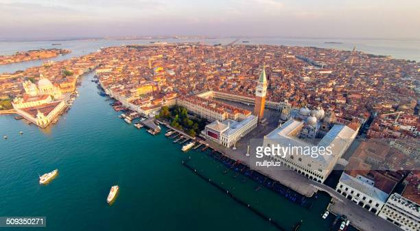 aerial view of venice with saint mark's square