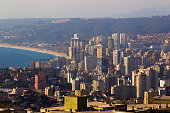 Aerial view of Viña del Mar on May 17 2015 in Viña del Mar Chile Viña del Mar will be one of the eight host cities of the Copa America Chile 2015