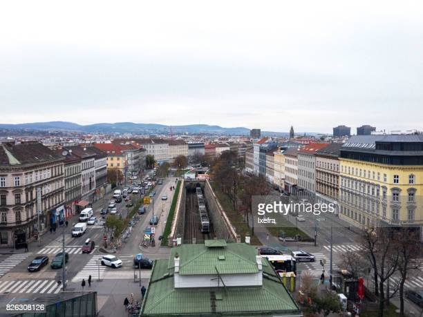 Aerial view of Vienna city