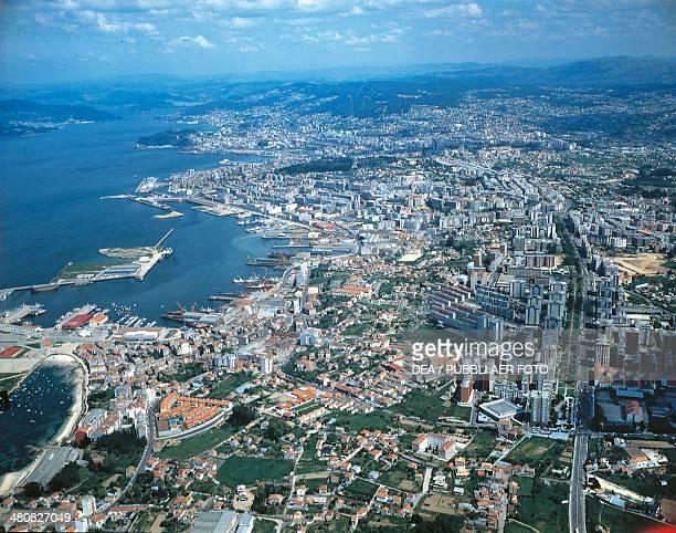 Aerial view of Vigo Galicia Spain