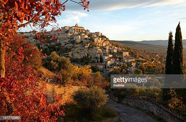 Aerial view of village in Gordes, Provence in France