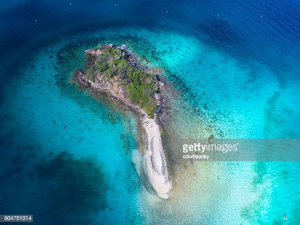 aerial view of Waterlemon Cay, St.John, US Virgin Islands
