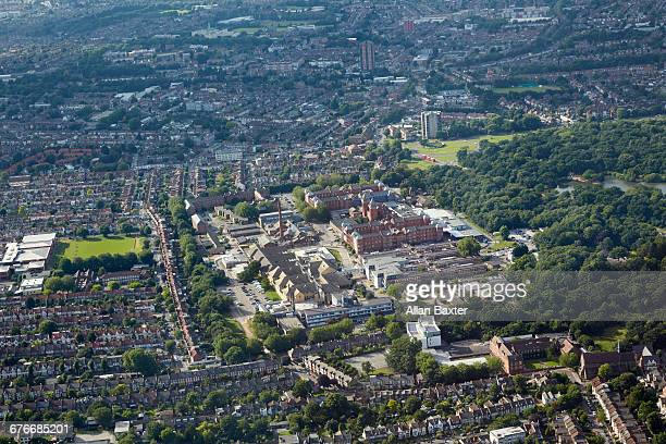 Aerial view of Whipps cross in London