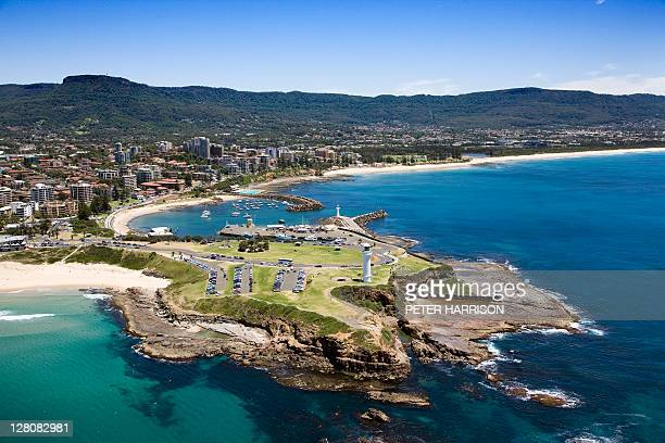Aerial view of Wollongong New South Wales, Australia