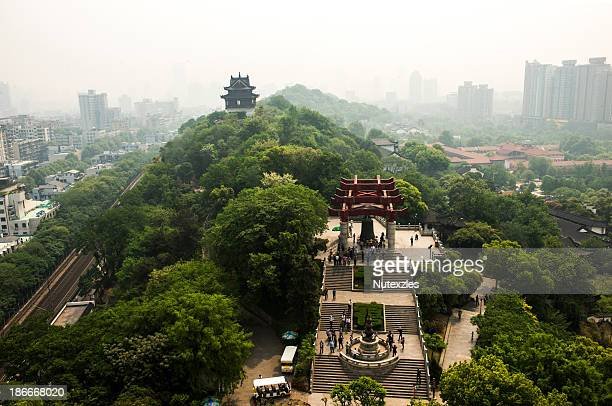 Aerial view of wuhan city,scene from yellow crane