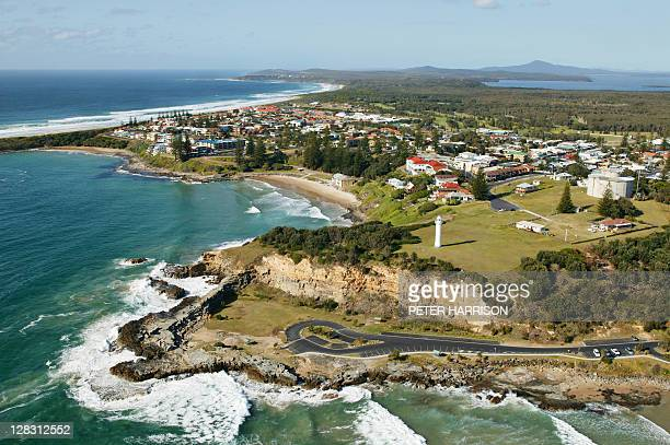 Aerial view of Yamba, NSW, Australia