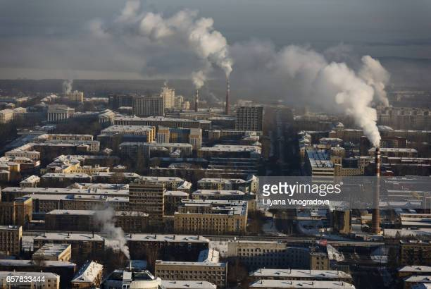 Aerial view of Yekaterinburg, Russia
