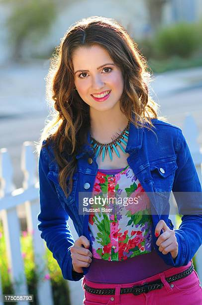 Aerial view ofActress Laura Marano is photographed for Be magazine on May 25 2013 in Los Angeles California