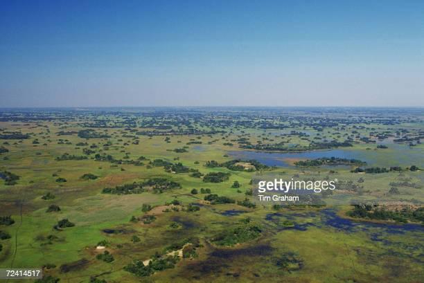 Aerial view Okavango Delta Botswana Africa
