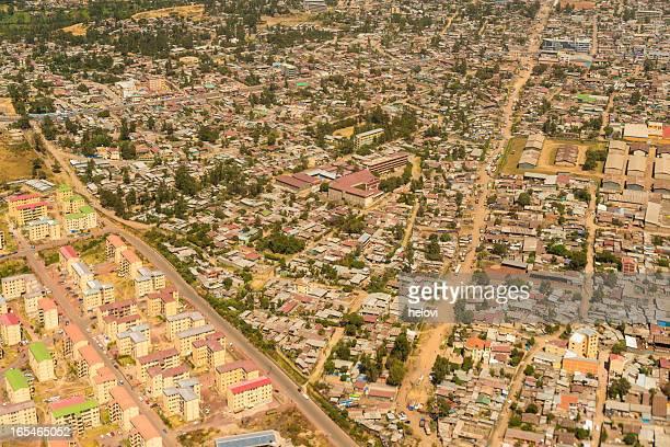 Luftbild auf Addis Abeba