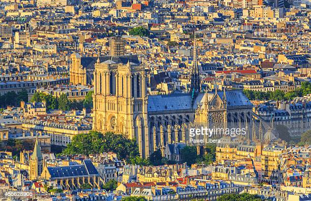 Aerial view on Paris skyline