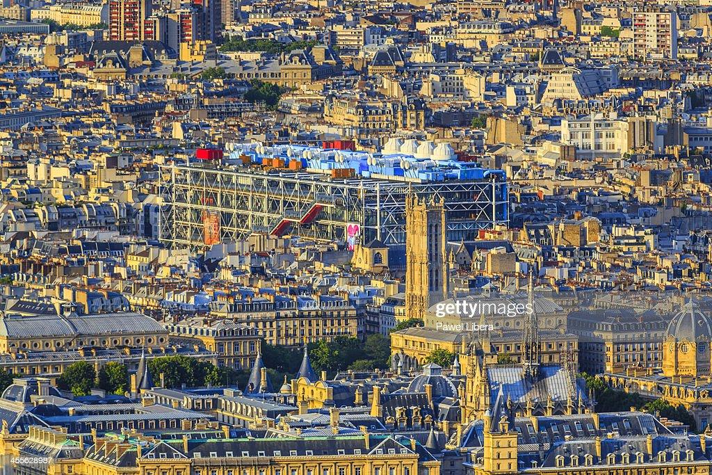 Aerial view on Paris skyline