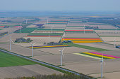 aerial view wind turbines flevoland standing