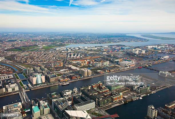 Aerial View over Dublin Docklands