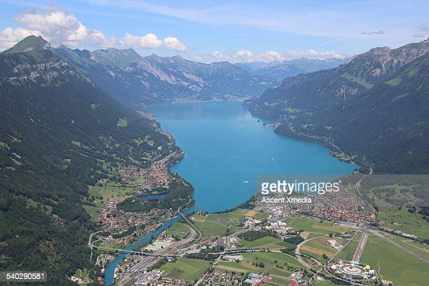 Aerial view over Swiss Alps, Interlaken
