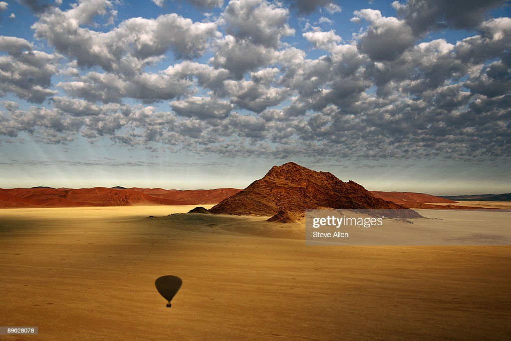Aerial view over the Namib Desert
