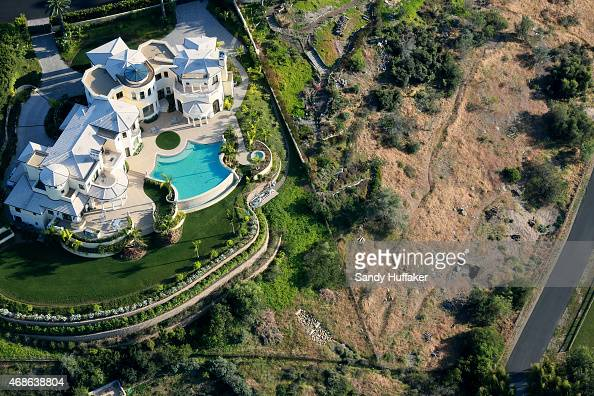 Aerial view overlooking landscaping on April 4 2015 in San Diego California Gov Jerry Brown has demanded a 25 percent cut in urban water useage due...