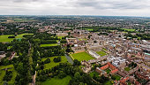 Aerial View Image Photo of Education Icon Cambridge University and Colleges, United Kingdom - Helicopter Drone Shot