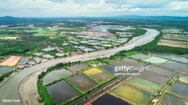 Aerial view Pungrad river at Chantaburi;Thailand
