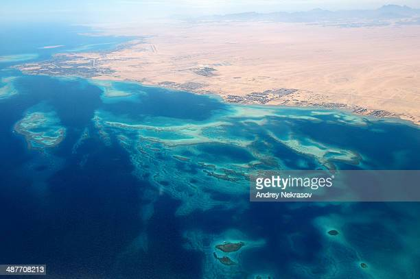 Aerial view, Red Sea, Hurghada, Red Sea Governorate, Egypt
