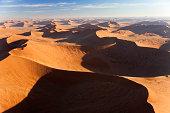 Aerial View Sand Dunes, Namib Desert, Namibia