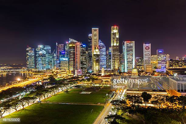 Aerial View Singapore Central Business District SG50