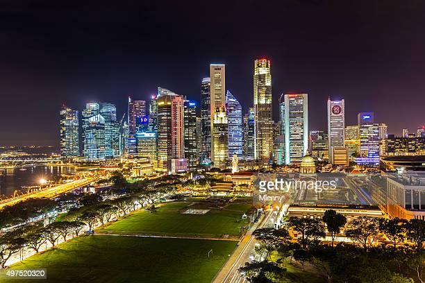 Luftaufnahme zentrales Geschäftsviertel von Singapur SG50