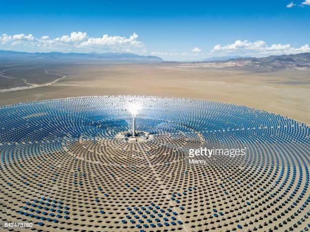 Luftbild solarthermischen Kraftwerks Station