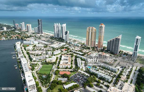 Aerial view Sunny Isles, Florida