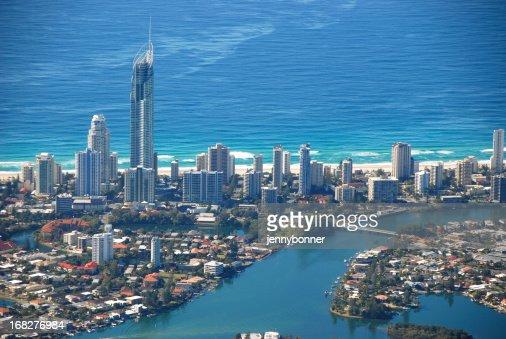 Aerial View Surfers Paradise, Gold Coast, Queensland, Australia