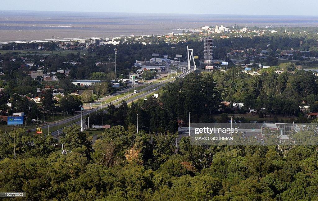 Aerial view taken near Montevideo, Uruguay on February 26, 2013. AFP PHOTO/Mario Goldman
