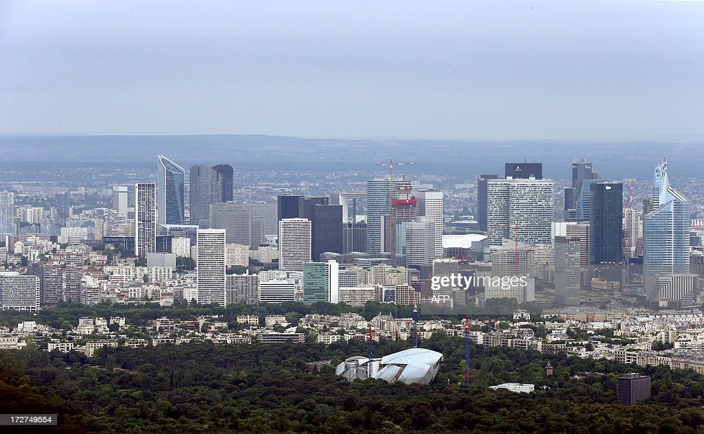 AN aerial view taken on July 4, 2013 shows the business district of La Défense, north of Paris.