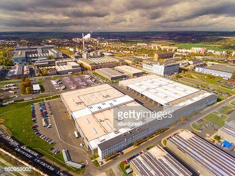 Luftaufnahme, industrielle Zone und Technologiepark. : Stock-Foto