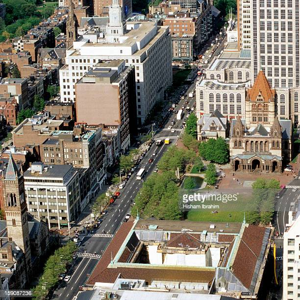 Aerial View, Trinity Church, Copley Square, Boston