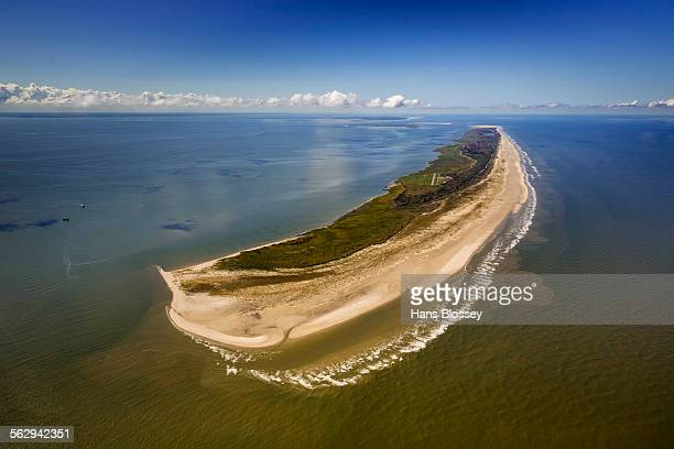 Aerial view, Wadden Sea, the Kalfamer, eastern side of Juist, island in the North Sea, East Frisian Islands, Lower Saxony, Germany