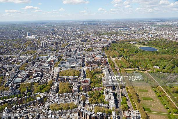Aerial view west of Kensington Palace