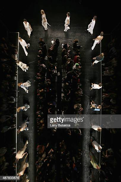 Aerial Views of Academy Of Art University fashion show during Spring 2016 New York Fashion Week The Shows on September 11 2015 in New York City