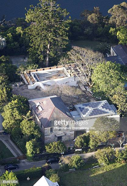 Aerial Views of actress Cate Blanchett`s historic home in Bulwarra are seen on October 26 2008 in Sydney Australia Blanchett`s home is currently...