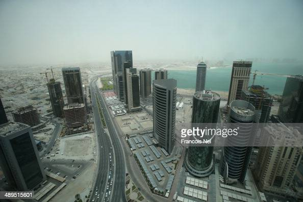 Aerial views of buildings in Doha on May 9 2014 in Doha Qatar