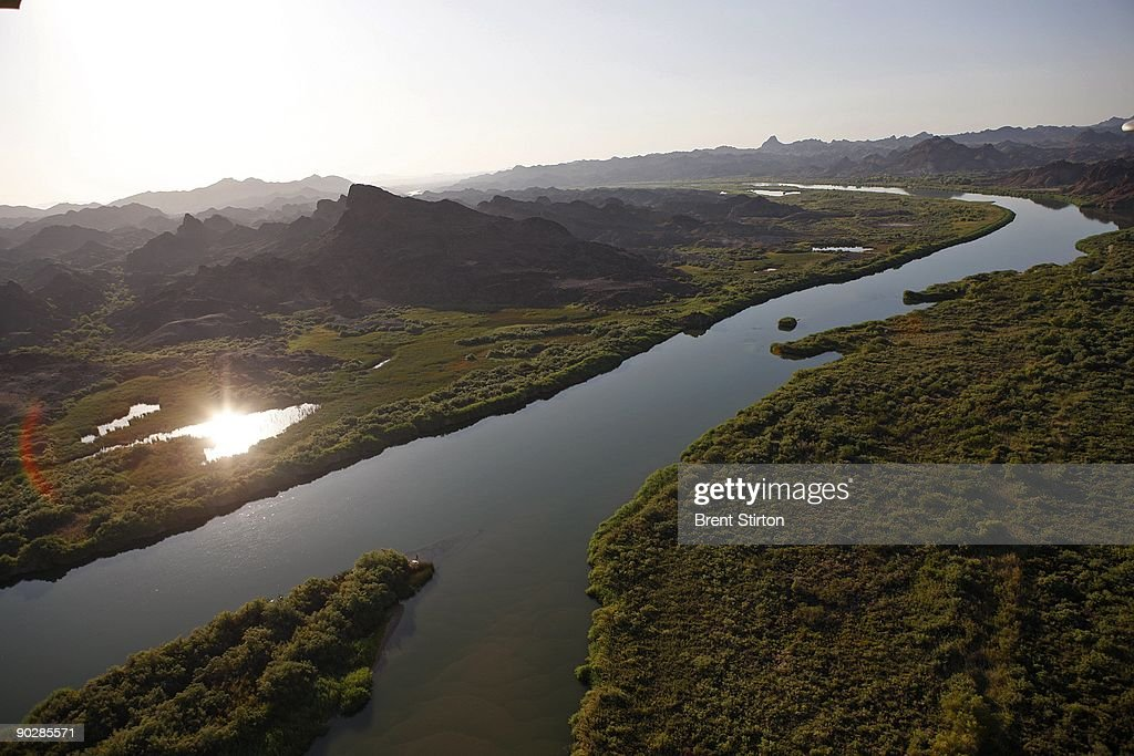 Aerial views of the Colorado River Imperial Valley 6 August 2009