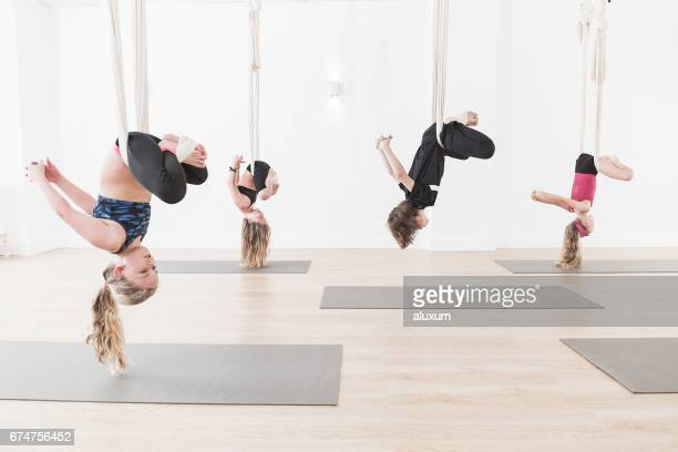 Aerial Yoga class for children
