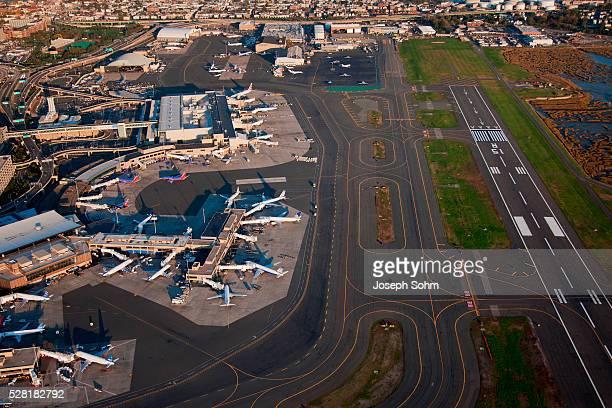 Aerials of Boston Logan International Airport